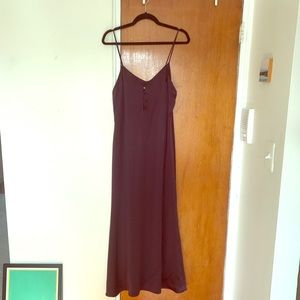 REFORMATION 100% Silk Dress. Deep Purple. Size M